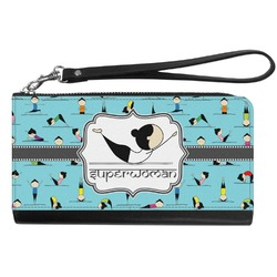 Yoga Poses Genuine Leather Smartphone Wrist Wallet (Personalized)