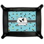 Yoga Poses Genuine Leather Valet Tray (Personalized)