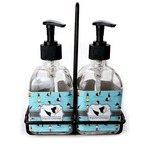 Yoga Poses Soap & Lotion Dispenser Set (Glass) (Personalized)