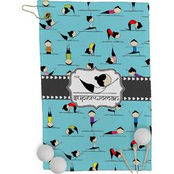 Yoga Poses Golf Towel - Full Print (Personalized)