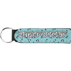 Yoga Poses Neoprene Keychain Fob (Personalized)