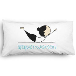 Yoga Poses Pillow Case - King - Graphic (Personalized)