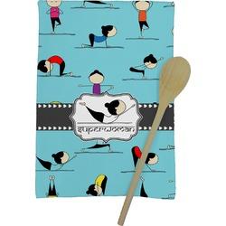 Yoga Poses Kitchen Towel - Full Print (Personalized)