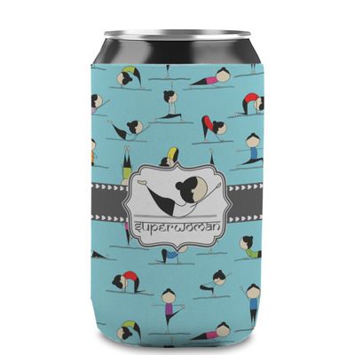 Yoga Poses Can Sleeve (12 oz) (Personalized)