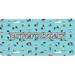 Yoga Poses Front License Plate (Personalized)