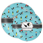 Yoga Poses Melamine Plate (Personalized)