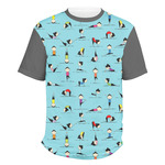 Yoga Poses Men's Crew T-Shirt (Personalized)
