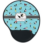 Yoga Poses Mouse Pad with Wrist Support