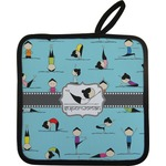 Yoga Poses Pot Holder w/ Name or Text