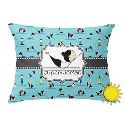 Yoga Poses Outdoor Throw Pillow (Rectangular) (Personalized)