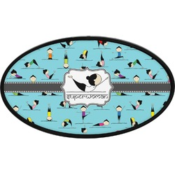 Yoga Poses Oval Trailer Hitch Cover (Personalized)