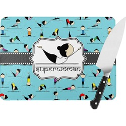 Yoga Poses Rectangular Glass Cutting Board (Personalized)