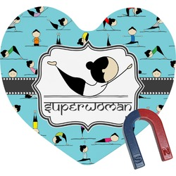 Yoga Poses Heart Fridge Magnet (Personalized)
