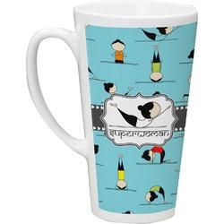 Yoga Poses Latte Mug (Personalized)