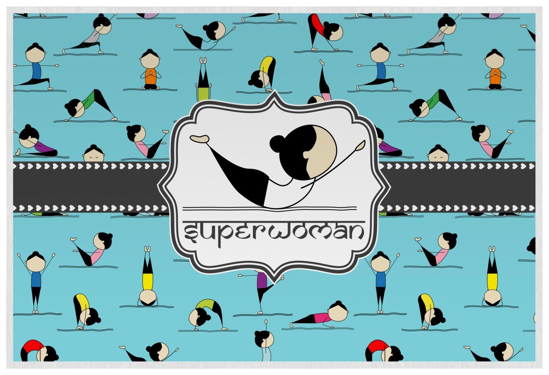 yoga poses placemat laminated personalized youcustomizeit
