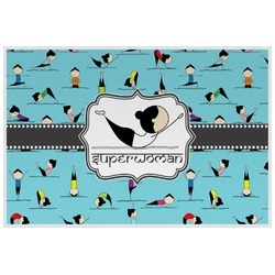 Yoga Poses Laminated Placemat w/ Name or Text