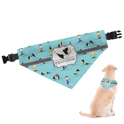 Yoga Poses Dog Bandana - Large (Personalized)