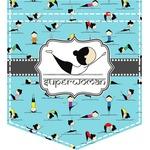 Yoga Poses Iron On Faux Pocket (Personalized)