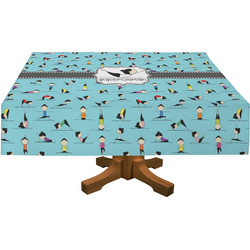Yoga Poses Rectangle Tablecloth (Personalized)