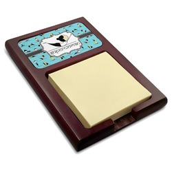 Yoga Poses Red Mahogany Sticky Note Holder (Personalized)