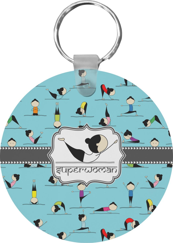 Baby Gifts Yoga : Yoga poses round keychain personalized youcustomizeit