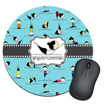 Yoga Poses Round Mouse Pad (Personalized)