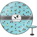 Yoga Poses Round Table (Personalized)