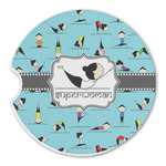 Yoga Poses Sandstone Car Coasters (Personalized)
