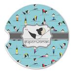 Yoga Poses Sandstone Car Coasters (Personalized)