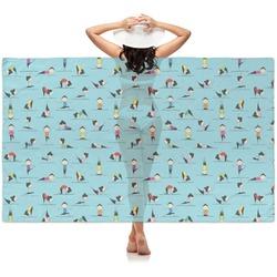 Yoga Poses Sheer Sarong (Personalized)