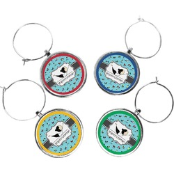 Yoga Poses Wine Charms (Set of 4) (Personalized)