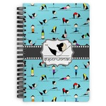 Yoga Poses Spiral Bound Notebook (Personalized)