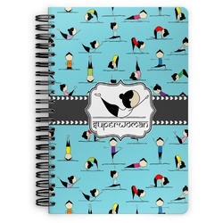 Yoga Poses Spiral Bound Notebook - 7x10 (Personalized)