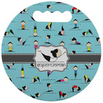 Yoga Poses Stadium Cushion (Round) (Personalized)