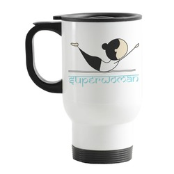 Yoga Poses Stainless Steel Travel Mug with Handle