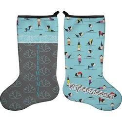 Yoga Poses Holiday Stocking - Double-Sided - Neoprene (Personalized)