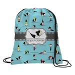 Yoga Poses Drawstring Backpack (Personalized)