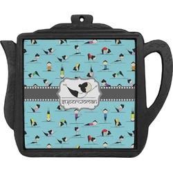 Yoga Poses Teapot Trivet (Personalized)