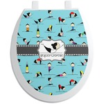 Yoga Poses Toilet Seat Decal (Personalized)