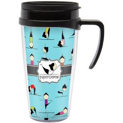 Yoga Poses Travel Mug with Handle (Personalized)