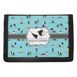 Yoga Poses Trifold Wallet (Personalized)