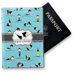Yoga Poses Vinyl Passport Holder (Personalized)