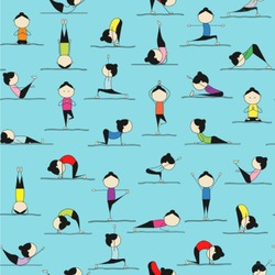 Yoga Poses Wallpaper & Surface Covering