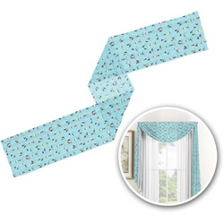 Yoga Poses Window Sheer Scarf Valance (Personalized)