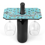 Yoga Poses Wine Bottle & Glass Holder (Personalized)