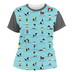 Yoga Poses Women's Crew T-Shirt (Personalized)