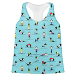 Yoga Poses Womens Racerback Tank Top (Personalized)