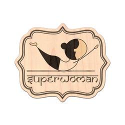 Yoga Poses Genuine Wood Sticker (Personalized)