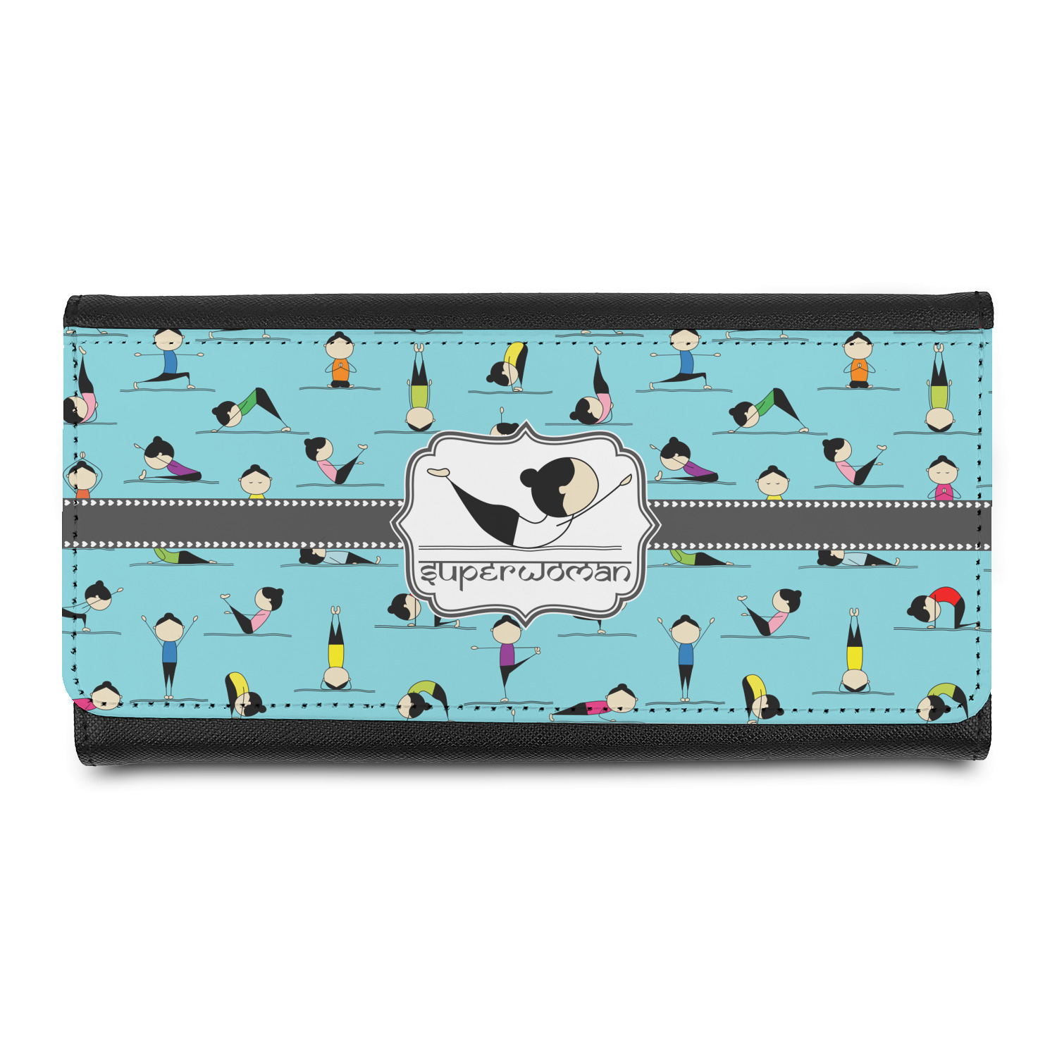 Yoga Poses Leatherette Ladies Wallet (Personalized)