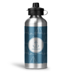 Rope Sail Boats Water Bottle - Aluminum - 20 oz (Personalized)